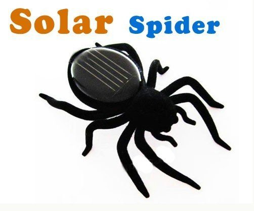 100pcs/lot  Solar Energy Powered Spider,Kids' Toy,cute present for Christmas