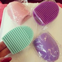 Makeup Brush Washing Cleaner Silicone Silica Glove Scrubber Board Cosmetic Clean Tools 8 Colors Brushegg Cleaning
