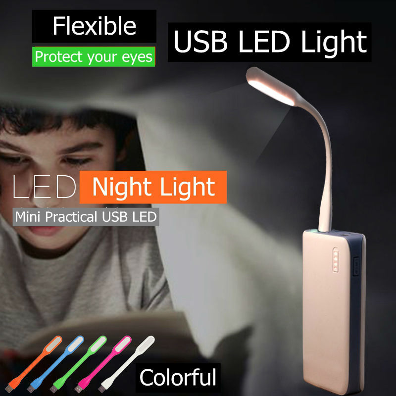 2015 New Cool Gadget Colorful Flexible Xiaomi USB LED Night Light Lamp for Outdoor Sport Camping for PC Computer Power Bank(China (Mainland))
