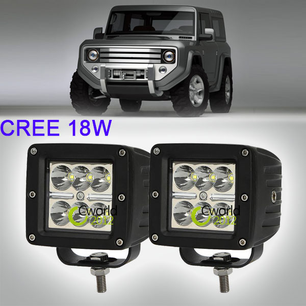 3 Inch 18W CREE LED Work Light Bar Offroad Fog Spot Lamp Car Motorcycle 4x4 ATV SUV Military Driving Headlight for JEEP GMC FORD(China (Mainland))