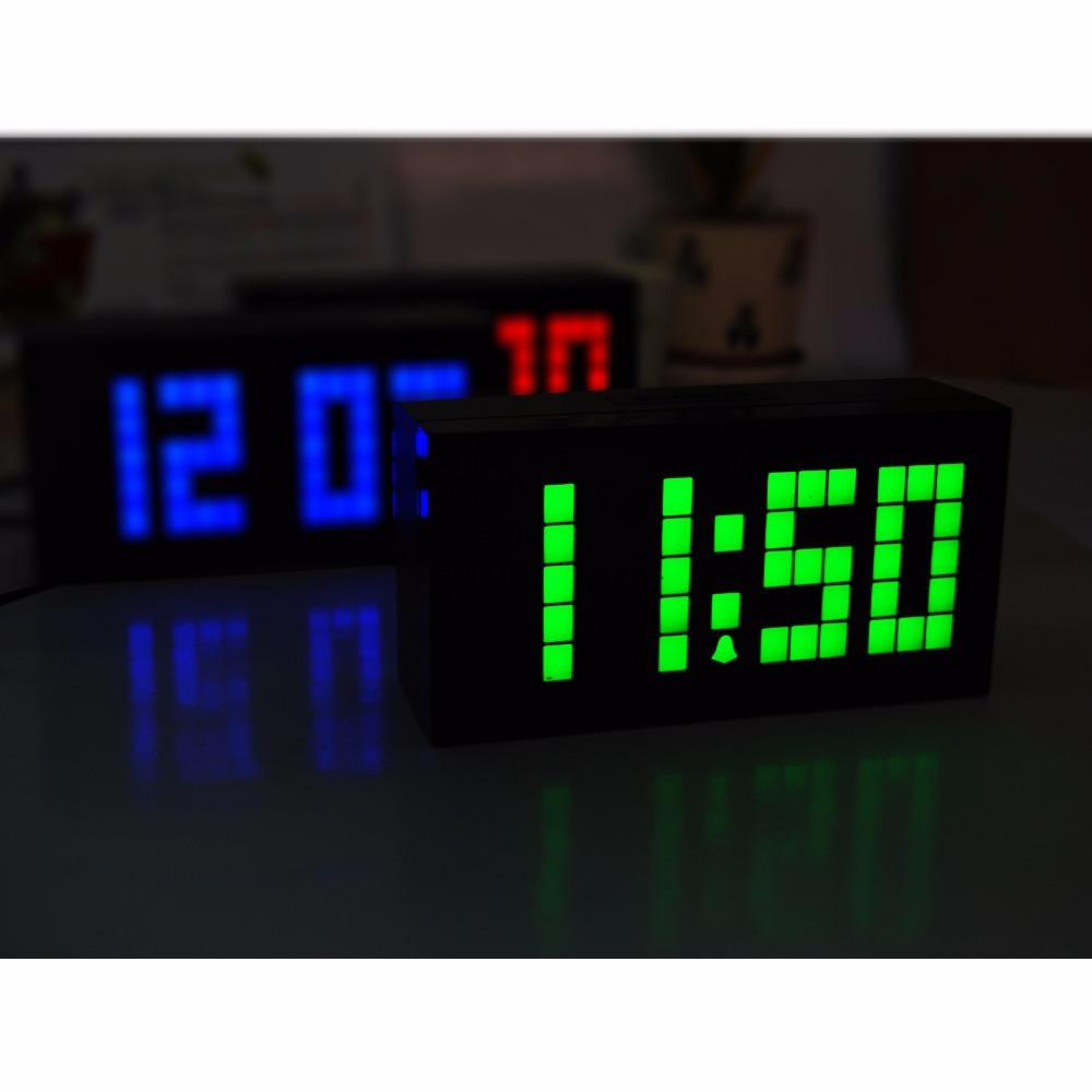 Ch KOSDA LED Digital relógio termômetro calendário relógio despertador soneca LED grande Jumbo de dígitos New