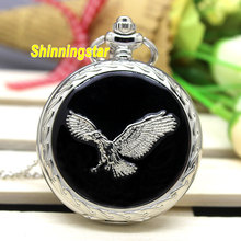 Buy Vintage Eagle Wing Silver Quartz Pocket Watch Necklace Pendant Chain relogio de bolso for $3.30 in AliExpress store