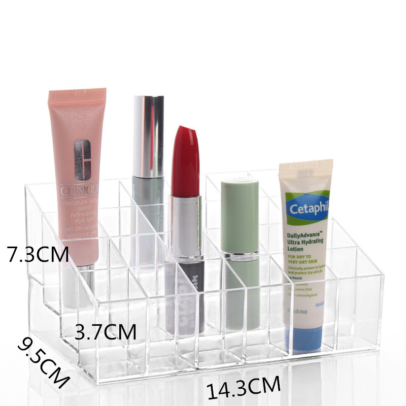 Makeup Cream Lipstick Cosmetic Storage Box Acrylic Case Stand Rack Holder Organizer Boxes HS019(China (Mainland))