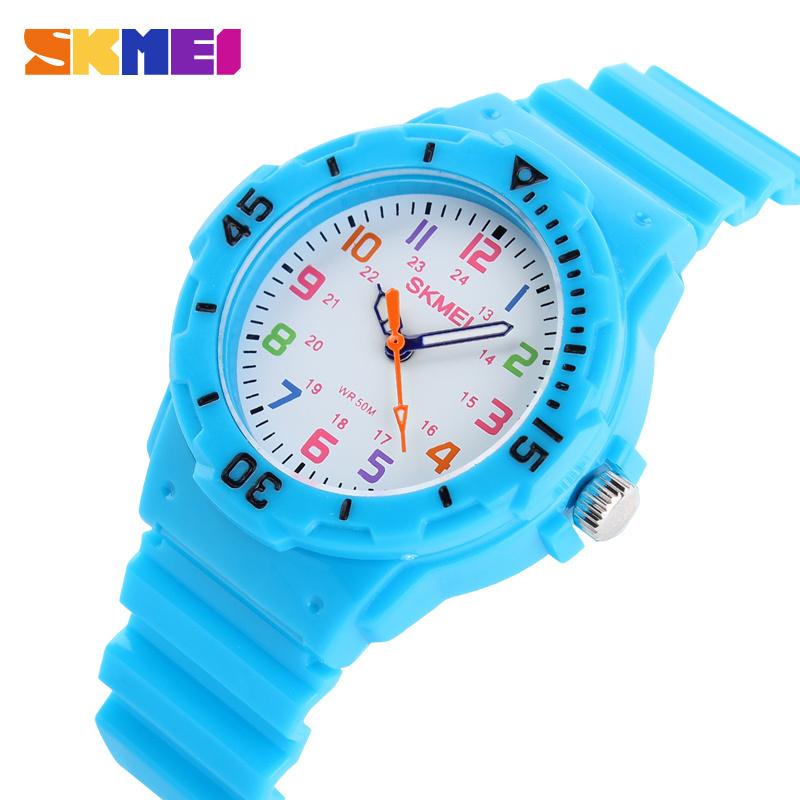 New Skmei Cute Kid Children Watch Fashion Casual Watches Quartz Waterproof Time Clock Hours Wrist Watch For Boys Girls Students(China (Mainland))