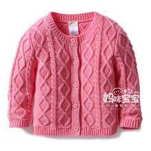New 2015 spring autumn Baby Sweaters kids clothes children 100% cotton knitted sweater coat baby girls sweater cardigan jackets(China (Mainland))
