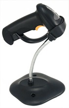 LS007 high precision laser 1D 2.4G wireless barcode scanner usb bar code reader with stand/holder