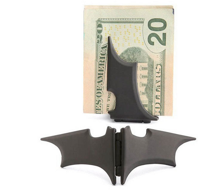 Гаджет  Black Cool Batman Design Folded Money Clip Metal Holder for Money Great Gift for Friend