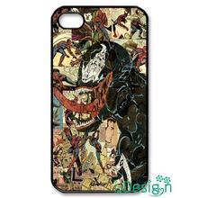 Fit for Samsung Galaxy mini S3/4/5/6/7 edge plus+ Note2/3/4/5 back skins cellphone case cover Venom Spiderman Villain Marvel