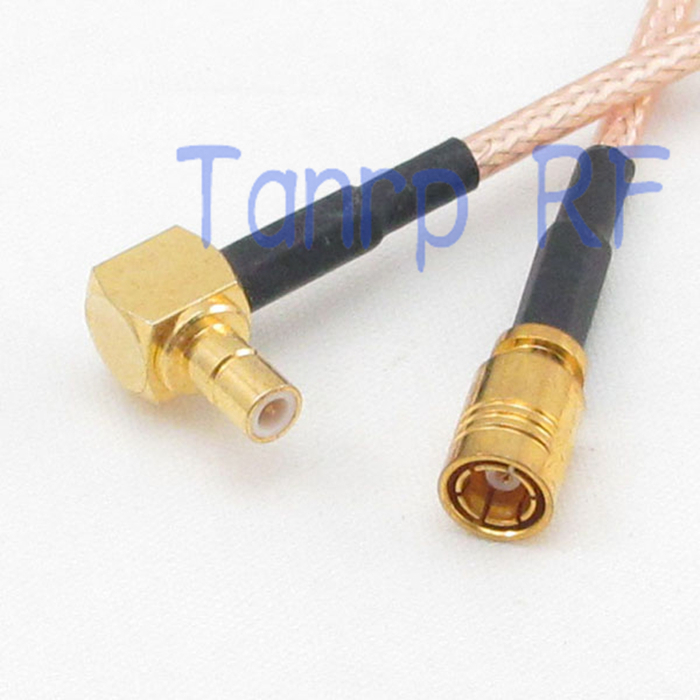 50CM Pigtail coaxial jumper cable RG316 extension cord 20in SMB male right angle to SMB female jack RF adapter connector<br><br>Aliexpress