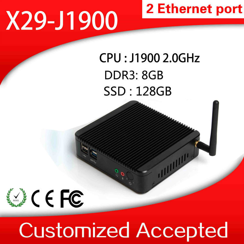 Wholesale latest mini computer!!! XCY X-29 arm J1900 fanless thin client Intel low voltage memory home computer host pc(China (Mainland))