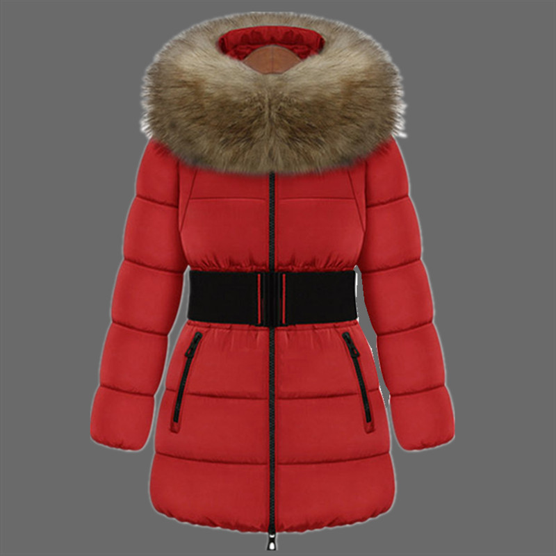 Manteau Femme 2015 New Winter Jacket Women Long Cotton Parka Mujer Nagymaros Collar Warm Coat Female Padded Outerwear QY277