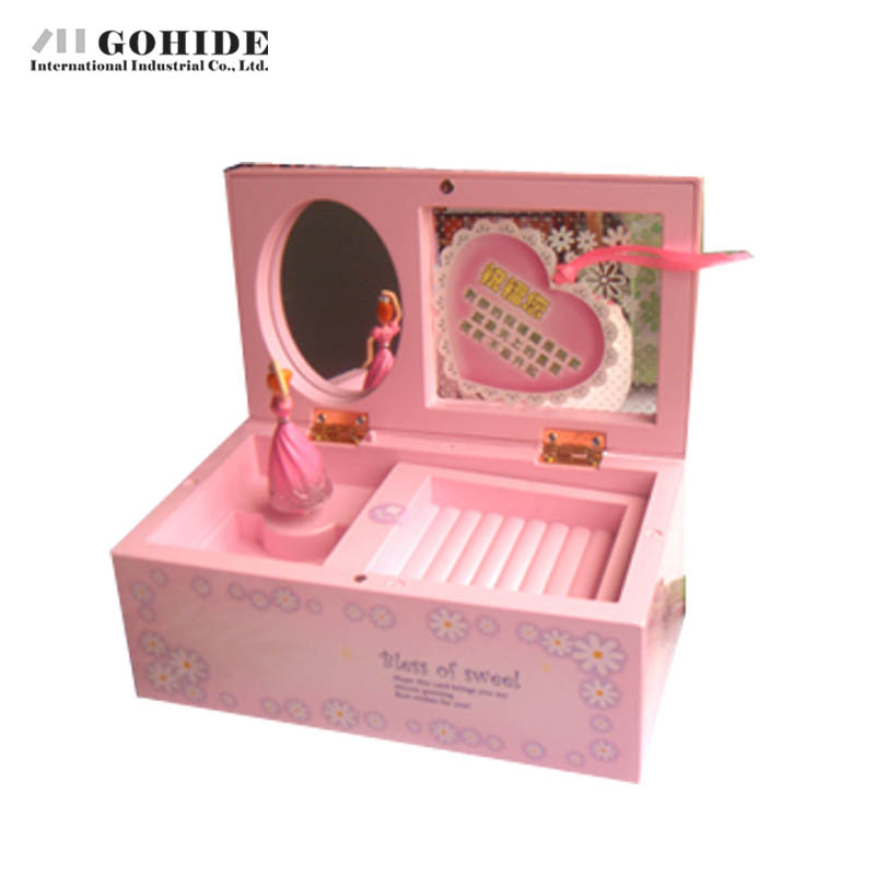 Gohide Home Accessories Technology Jewelry Box Birthday Gift Pink Music Box Mechanism Creative Presents For Valentine's Day(China (Mainland))