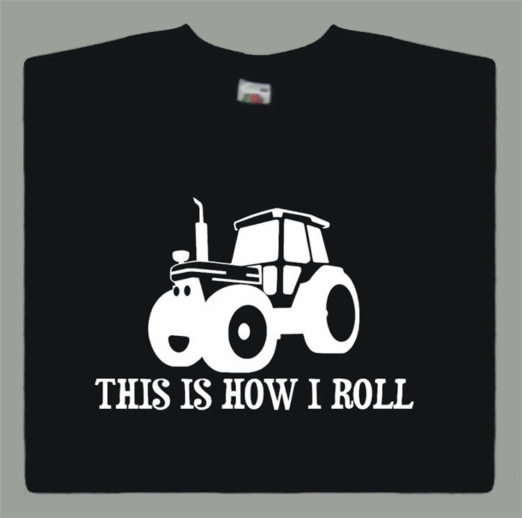 This is How I Roll T-shirt Funny Farmers Farming Tractor Gift S-XXL(China (Mainland))