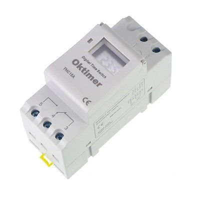 LCD Digital display 220V 16A 24 HOUR 7 DAY TIMER TIME RELAY SWITCH THC15A - Electric City store