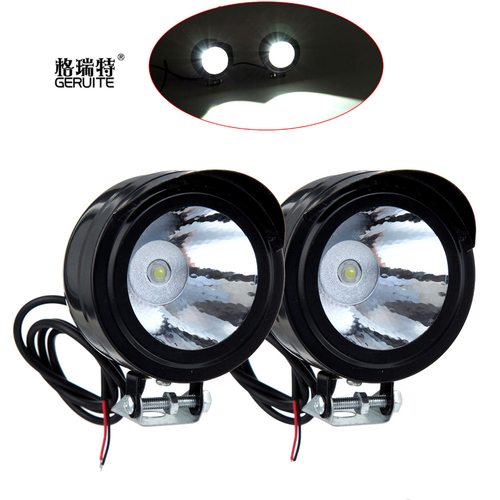 Universal Waterproof Car/Motorcycle/Bicycle Headlight Led Font Bulbs/Lamp 3W 12-80V Spotlight Angle Eyes Daytime Driving Light(China (Mainland))