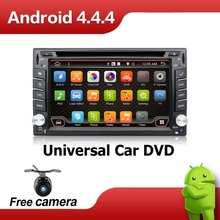 Monitor 2 DIN Car DVD Android Auto GPS Player Radio Stereo In Dash MP3 Head Unit CD Dual Core HD TV Video Audio For VW Universa(China (Mainland))