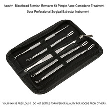 Blackhead Blemish Remover Kit Pimple Acne Comedone Treatment 5pcs Professional Surgical Extractor Instrument 63(China (Mainland))