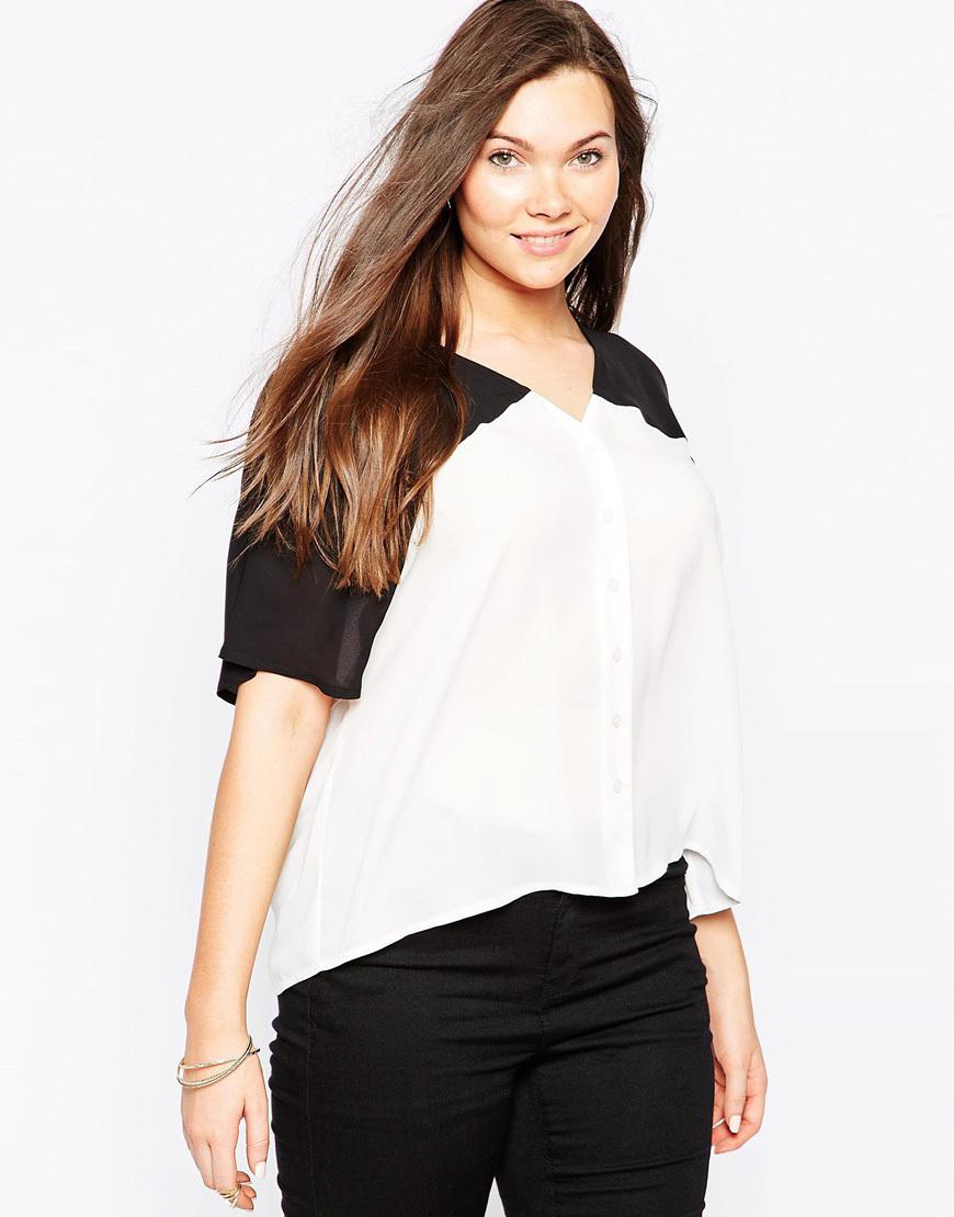 Женская   v-образным вырезом с коротким рукавом шифон блузка Большой размер блузка цветовой контраст лоскутное свободного покроя блузка 5xl 6xl летняя одежда