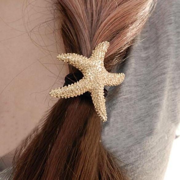Fashion Sea Star Starfish Jewellry Jewelry Jewel Headband Hair Rope Band Accessory Presilhas Tools Princess Harajuku Accessories(China (Mainland))