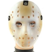 New!April Fools' Day High Quality Fashion Black Friday Jason Style Mask with Black Band - White(China (Mainland))