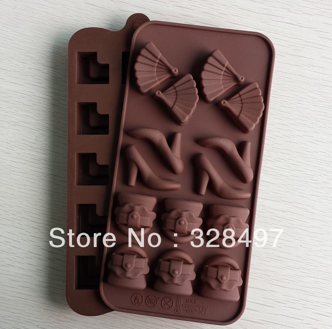 Free shipping High-heeled shoes type silicone cake Chocolate Mold Jelly Mold Cake Moulds Bake ware L001(China (Mainland))
