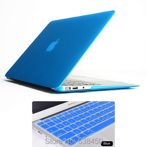 2in1 Sky Blue Matte Rubberized Hard Case Cover 11 Colors