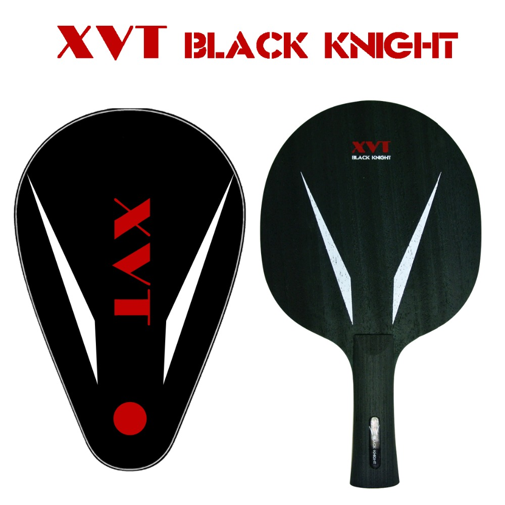 New XVT Black Knight 7 Carbon Fiber Table Tennis Blade/ ping pong blade/ table tennis bat with Full Cover Free shipping(China (Mainland))