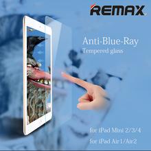 Tempered Glass Screen Protector for iPad mini 2 3 4 iPad Air Air2 Original Remax Anti Blue Ray Toughened Glass Film(China (Mainland))