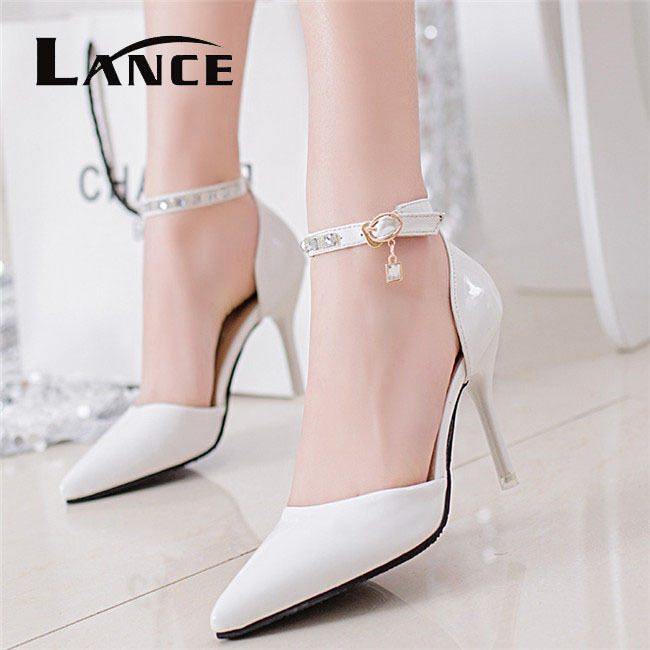 White High Heel Sandals For Wedding