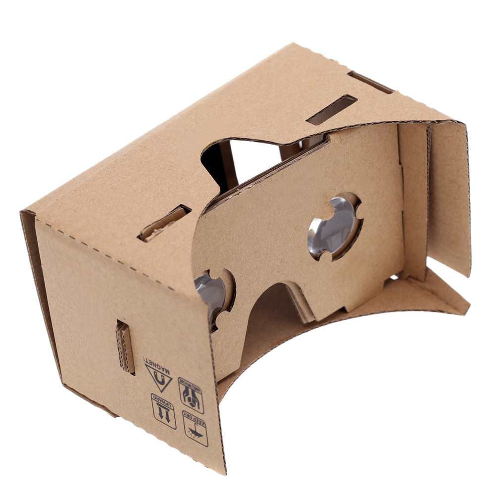 "DIY Google Cardboard Virtual Reality 3D Glasses VR Box Mobile Phone 3D Viewing Glasses for 5.0"" Screen(China (Mainland))"