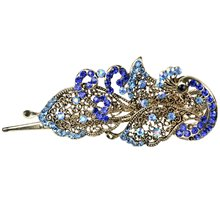 DSGS NEW STYLE Crystal Peacock Hair Clips Hairpins – For Hair Clip Beauty Tools