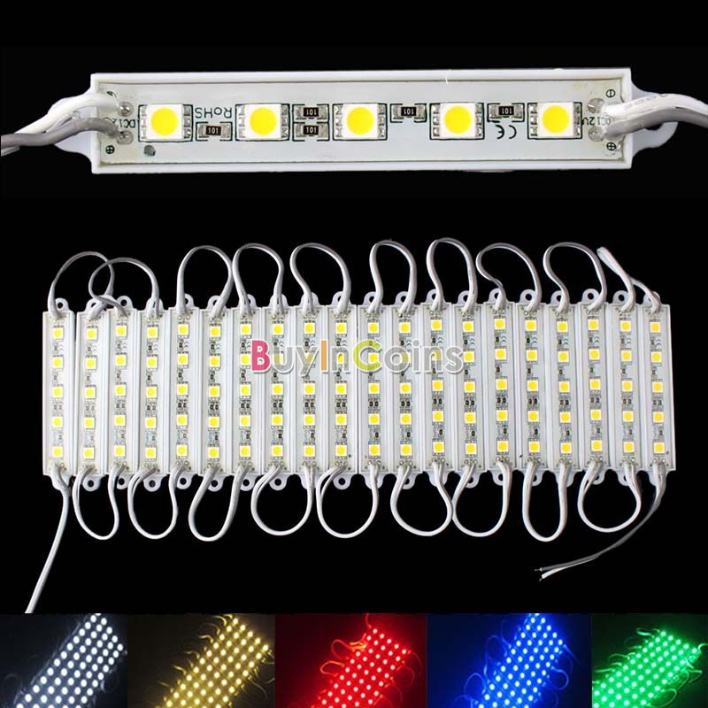 5 SMD 5050 LED Module Light Waterproof Hard Strip Bar Light Lamp 12V 5 Color US AS #58338(China (Mainland))