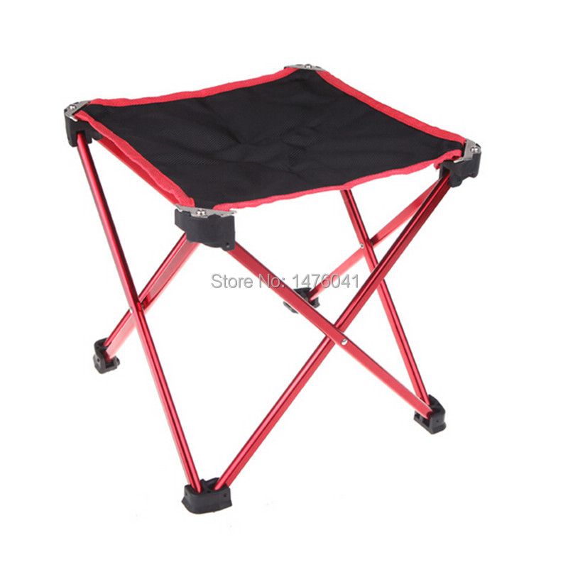 Outdoor Travel Portable Folding Stool Lightweight Aluminum Stable Fishing Chair Camping Stool with Free Carry Bag(China (Mainland))