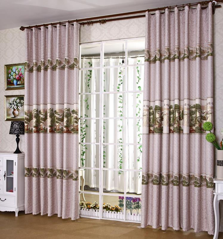 Engrosamiento de la cortina de estilo chino tela jacquard - Cortinas para jardin ...