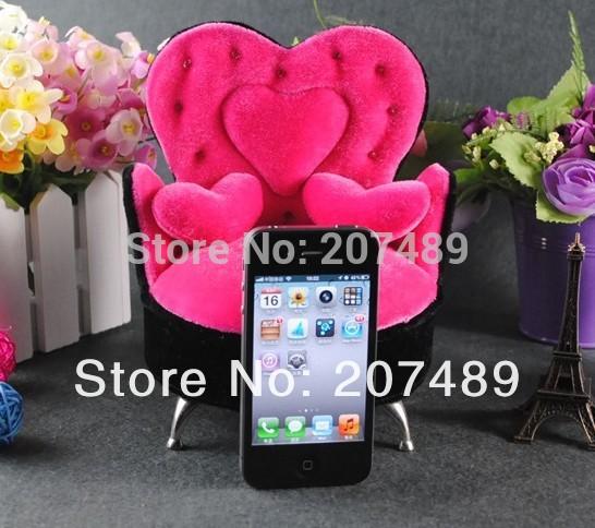mini furniture three heart sofa velvet jewellery box case organizer storage display for earring ring necklace wholesale(China (Mainland))