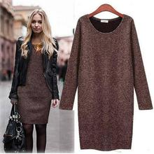 Dresses As early as  European American style sleeves Hitz large size women bottoming European stations autumn dress 102129(China (Mainland))
