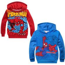 Cool Clpthing Kids Boys Girls Spiderman Hero Hoodie Coat Unisex Outwear 2-8Y(China (Mainland))