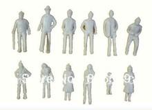 100pc 1:150 scale white figure for Landscape Train Model Scale architectural scenery