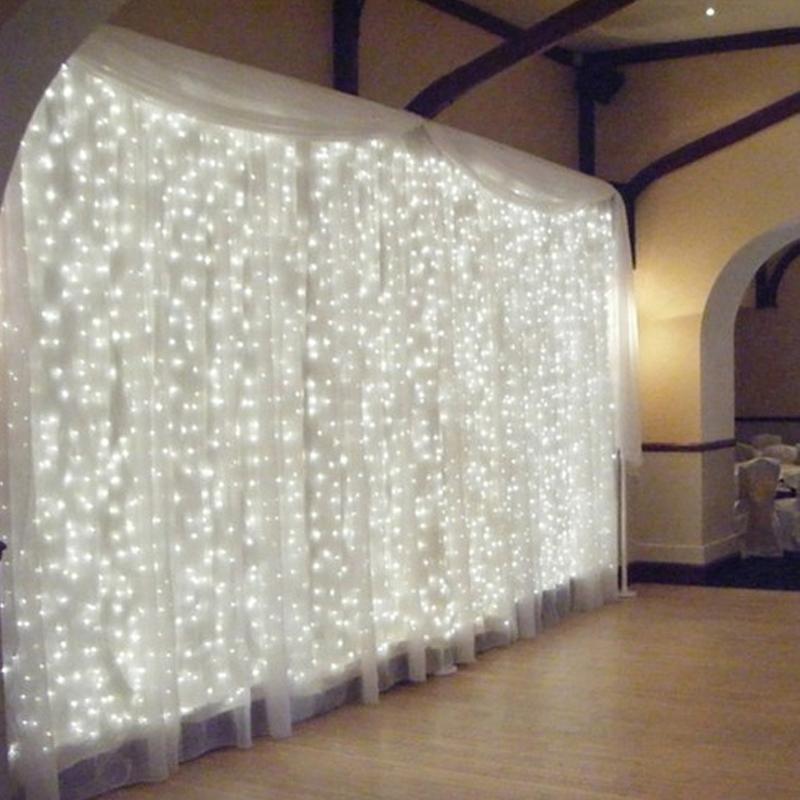 1& 4.5M X3M 300leds EU Plug 220V Fairy Led string light for christmas party garland curtain wedding Decoration Twinkle Lights(China (Mainland))