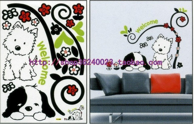 20pcs/lot removable Wall Stickers decor wall decal home sticker self-adhesive mixed designs