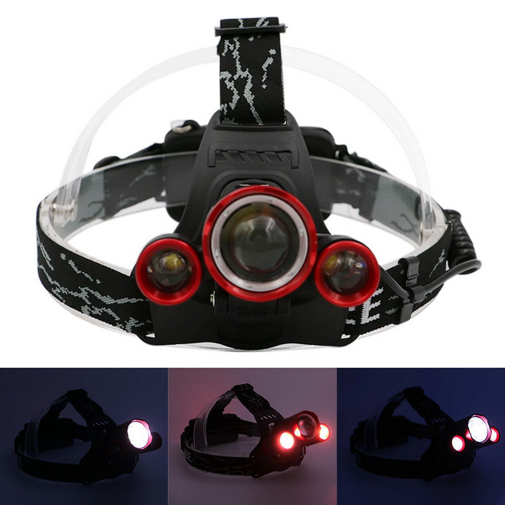 Aluminum Alloy Usb Rechargeable T6 R2 Led Headlamps Strong Light Arduino Camping With Dimmer Packing Size 115 11 95 Cm