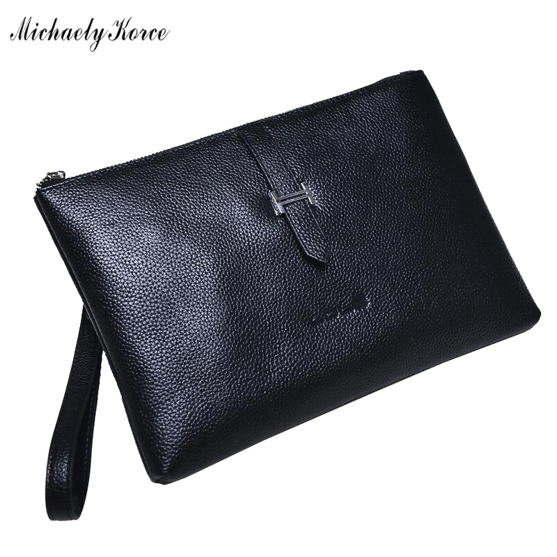 Lychee Emboss Clutch Bag For Male Fashion Famous Large Capacity Genuine Leather Big Clutches Charm Luxury Mens Phone Wallet Bag<br><br>Aliexpress
