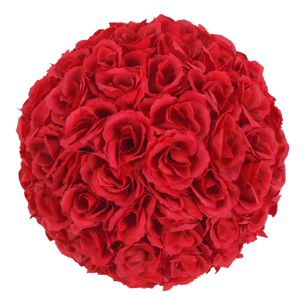 25cm Elegant Satin Artifical Fake Foam Rose Kissing Ball