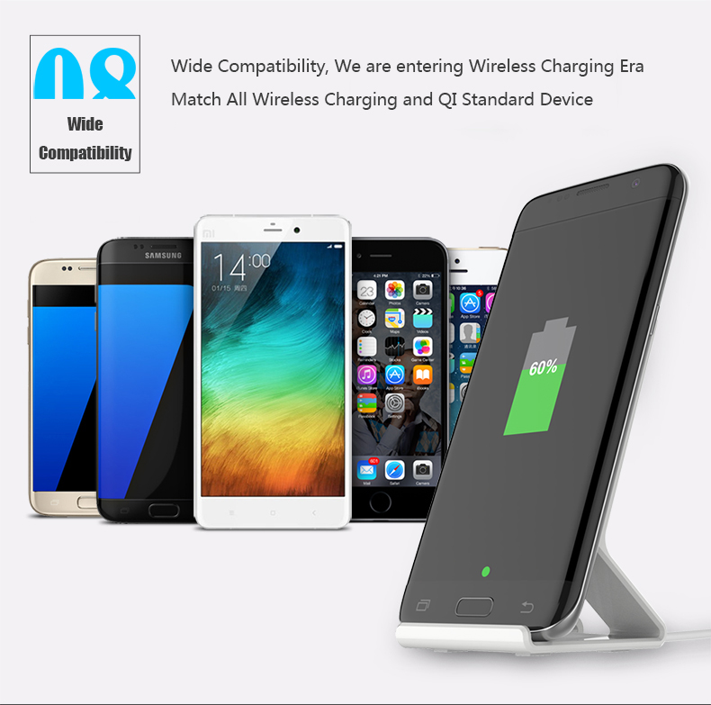 Stand Style Design QI Standard Wireless Charger For Samsung S7 Edge LG Series HTC Nokia 5V 1A Output Wireless Phone Chargers (9)