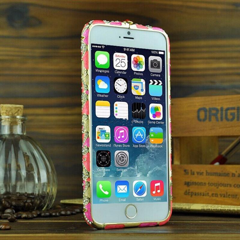 Luxury Crystal China National Style Rhinestone Phone Bumper Frame for iphone 5 5s se 6 6s plus Diamond Slim Shining Bling Case(China (Mainland))