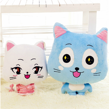 Buy 1pcs 20/30cm Cute Plush Toys Fairy Tail Blue Happy Cat Hubby Xia lulu Soft Plush Toy Doll Anime Cosplay Stuffed Dolls for $6.00 in AliExpress store