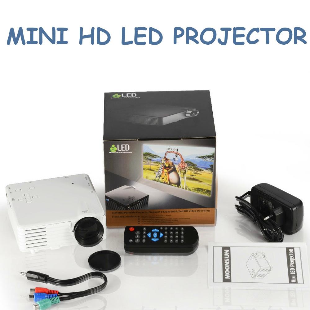 Mini hd led projector with hdmi sd av vga usb tv port h100 for Small hd projector