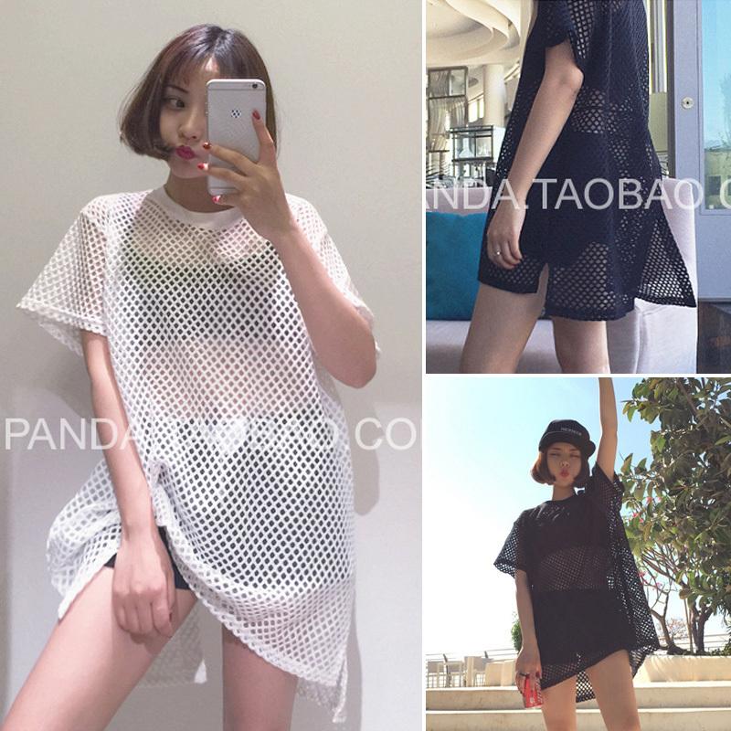 2015 fashion mesh top sexy top ropa mujer vetement femme poleras de mujer tee shirt femme punk rock summer tops tee shirts(China (Mainland))