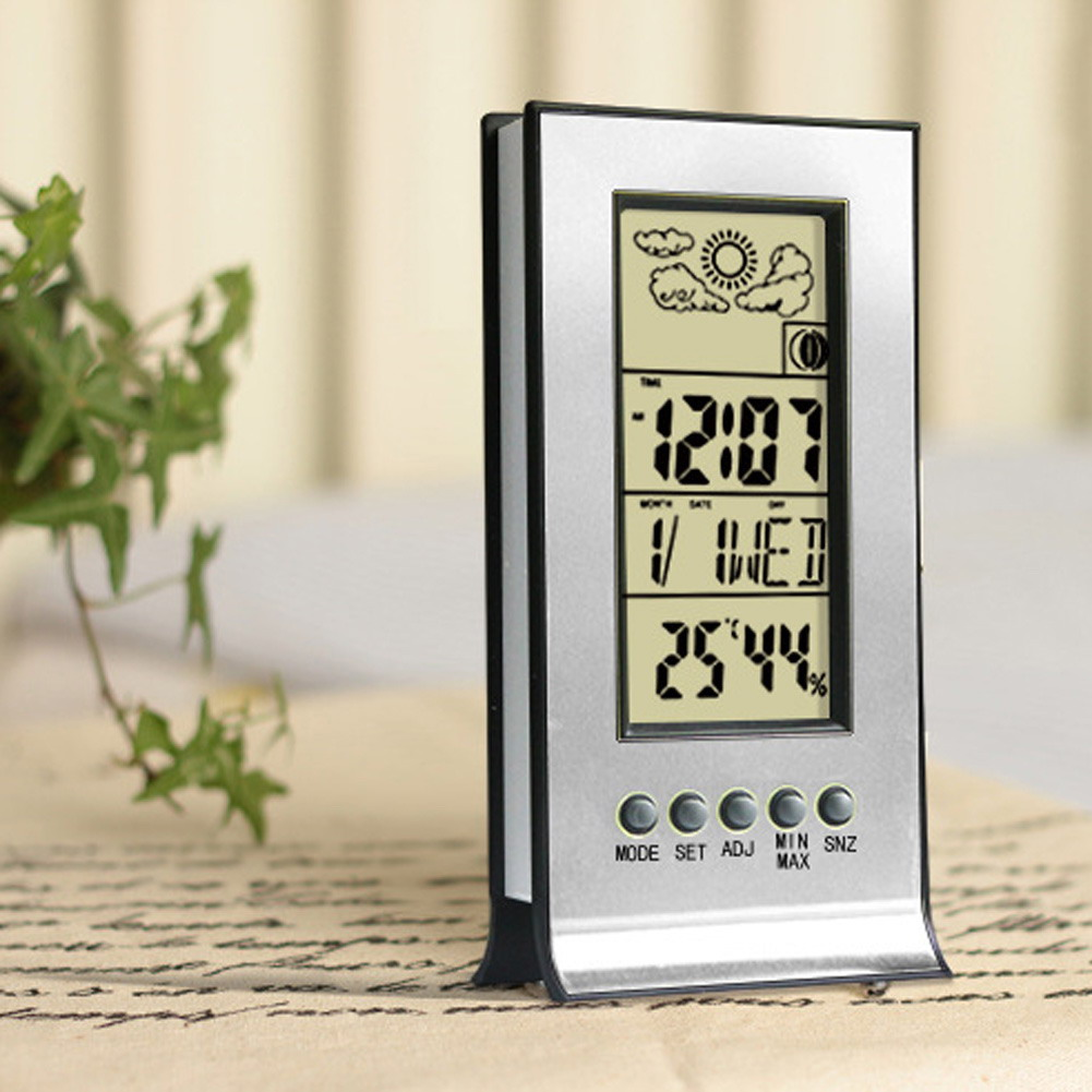 Thermometer Hygrometer Weather Station Humidity and Temperature Monitor Cl Wireless Thermometer Alarm Clock Temperature Tesster(China (Mainland))