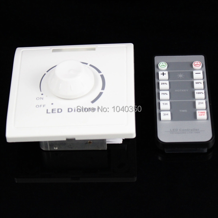 New LED dimmer Remote controller 8A 110V-240V IR Knob PWM Triac LED Dimmer Switch For E27 GU10 Dimmable Spot Lights Downlights(China (Mainland))